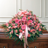 Pink Mixed Half Casket Cover