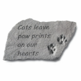 Garden Accent Stone - 'Cats leave paw prints…'