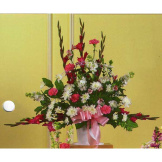 Pink & White Mixed Flower Basket
