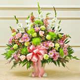 Multicolor Pastel Sympathy Floor Basket