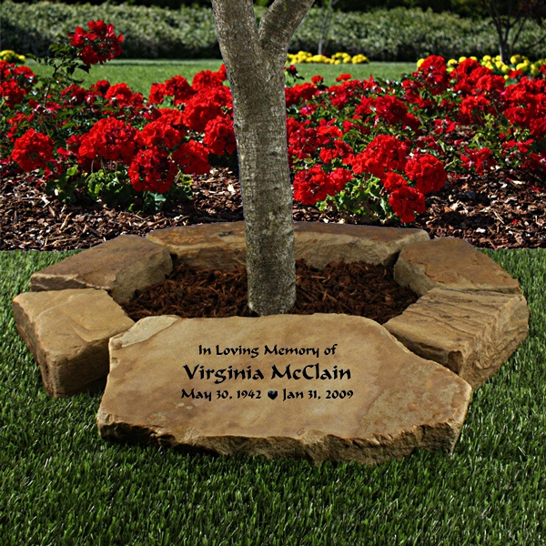 Small Tree Memorial Garden Stone Ring Personalized Gifts