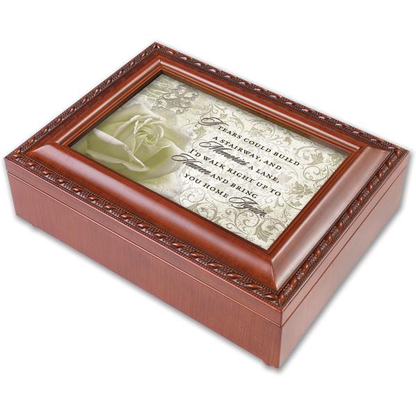 Heaven Woodgrain Music Box - Memorial Gifts | The Sympathy ...