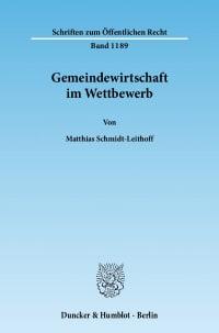 Cover Gemeindewirtschaft im Wettbewerb