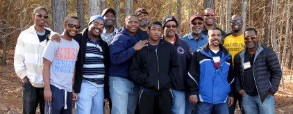 Men's group at a Pine Cove retreat