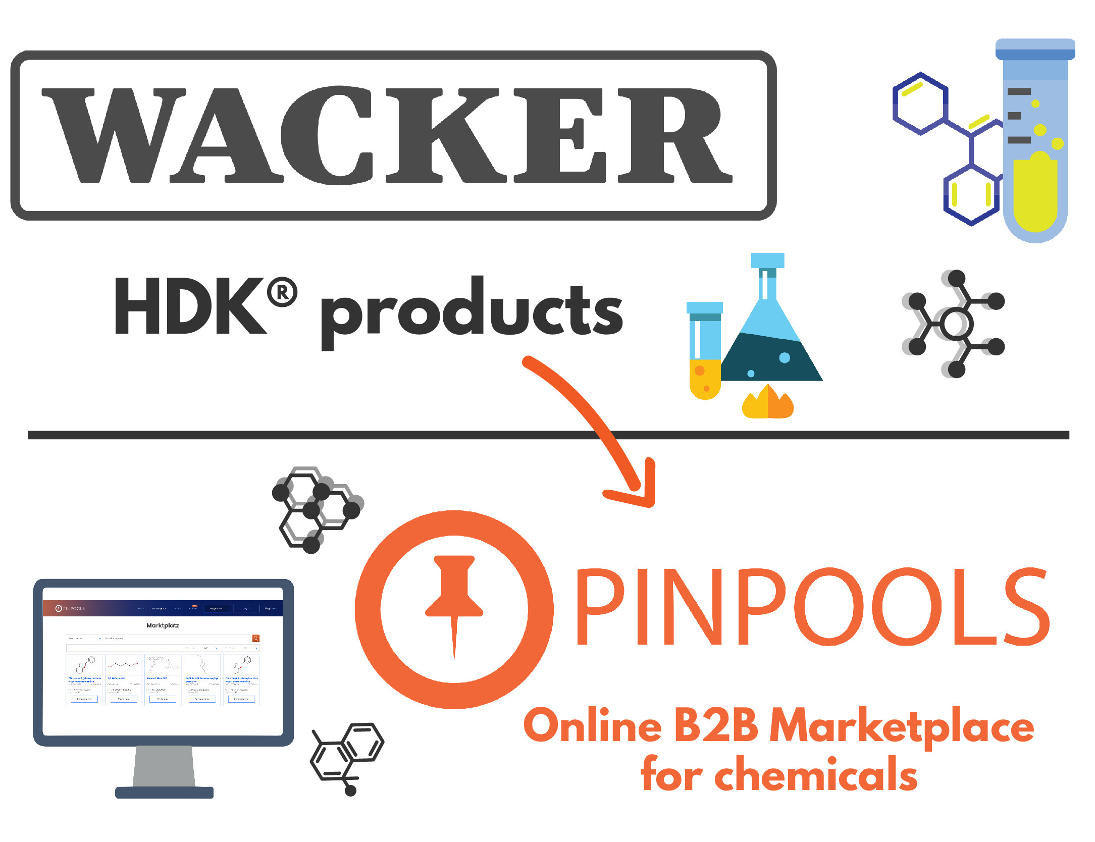 WACKER Chemie AG is now with HDK products on PINPOOLS Marketplace!