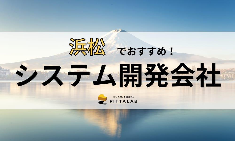 浜松(静岡)のおすすめシステム開発会社15選!【強み・特徴別に紹介】