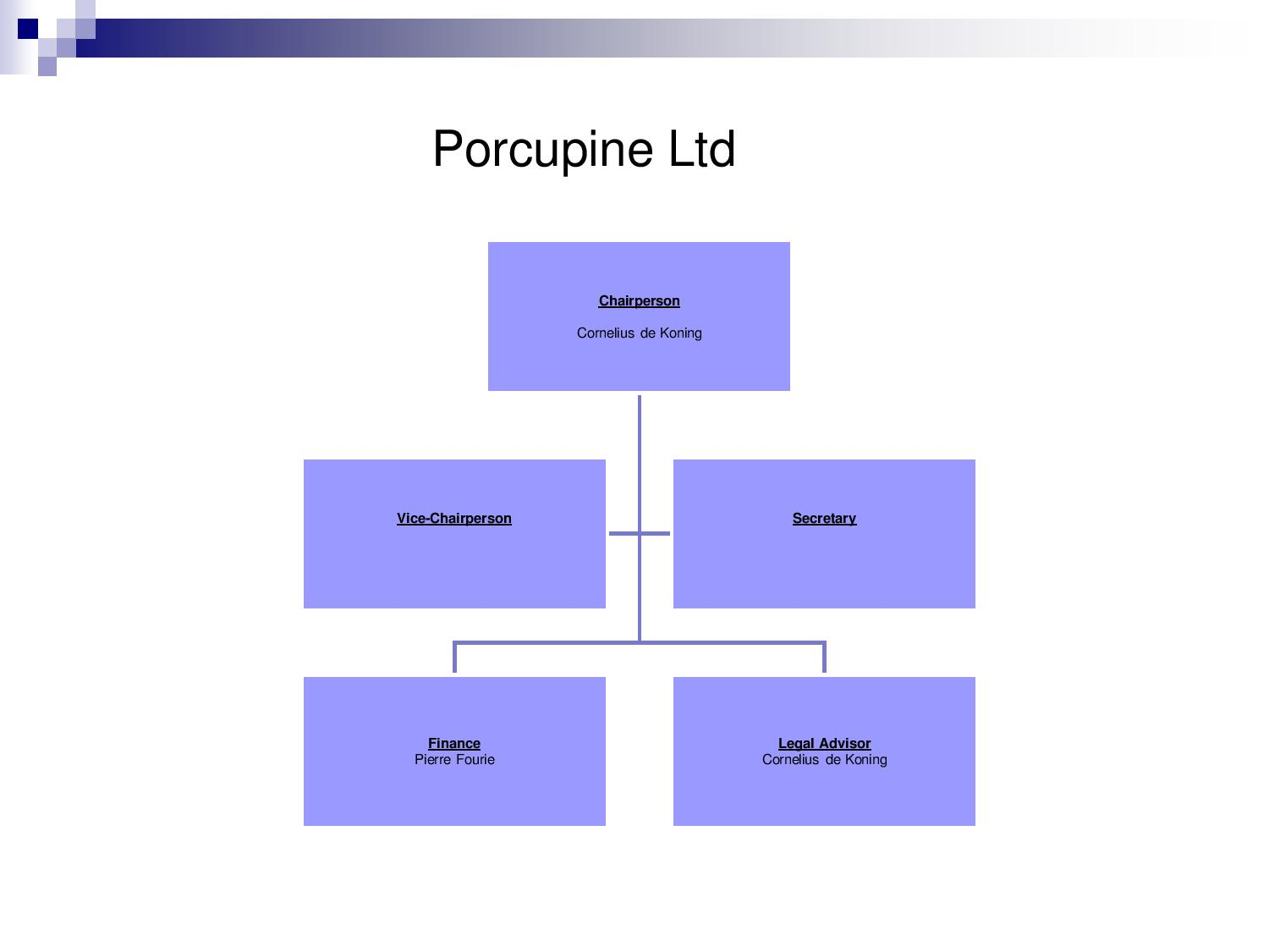 Porcupine LTD
