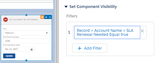Component with Visibility filter on App Builder