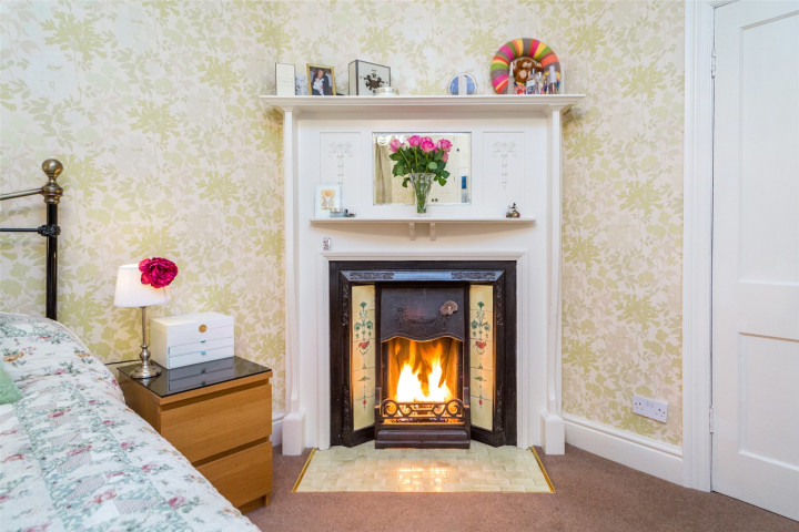 Master Bed Fireplace