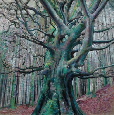 Port Appin Studio textile art: Benderloch Wood