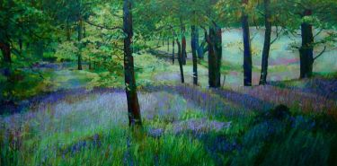 Port Appin Studio textile art: Bluebell Wood