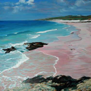 Port Appin Studio textile art: Prince Charles Bay, Eriskay