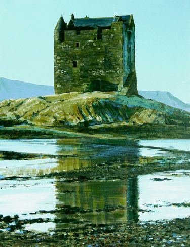 Port Appin Studio textile art: Stalker Castle