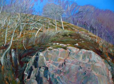 Port Appin Studio textile art: Arisaig Rockface