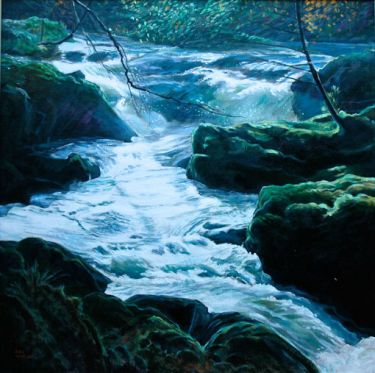 Port Appin Studio textile art: Glen Dubh Stream