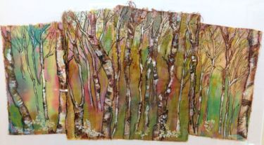 Port Appin Studio textile art: Birch Trees 2
