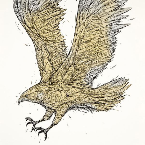 'Golden Eagle' by DZIA | POS PRINTS