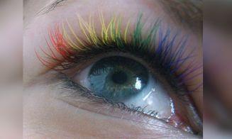 Tendencia : pestañas arcoíris