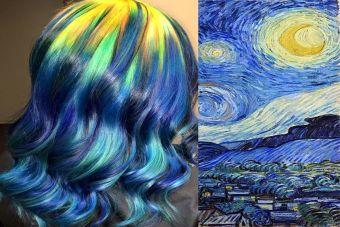 Estilista convierte el pelo en arte