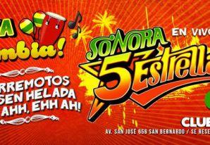 Sonora 5 Estrellas en Club Madness