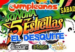 Cumpleaños de Sonora 5 Estrellas en Kmasu Premiere