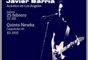 Javier Barría en Los Ángeles