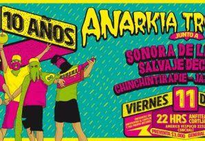 Anarkia Tropikal celebra 10 años junto a invitados