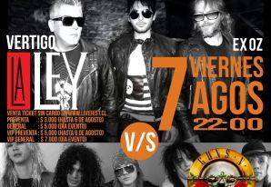 Livefest fiesta versus tributos a Guns Roses y La Ley