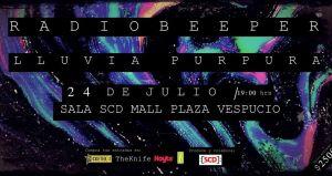 RadioBeeper Y Lluvia Púrpura en Sala SCD de Vespucio