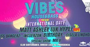 Vibes House&Bass Presents Matt Ashley (UK HYPE) in Chile + Inguerzon Birthday, Club Subterráneo