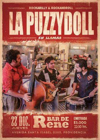 La Puzzydoll en vivo en el Bar de René