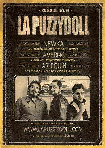 La Puzzydoll en vivo, mini gira por la VIII región.