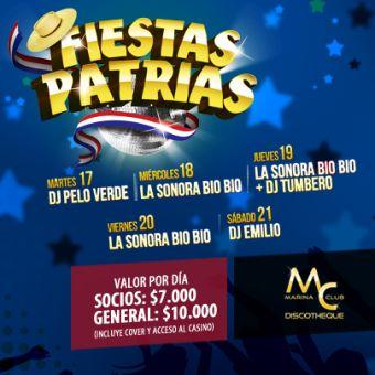 Fiestas Patrias en Casino Marina del Sol