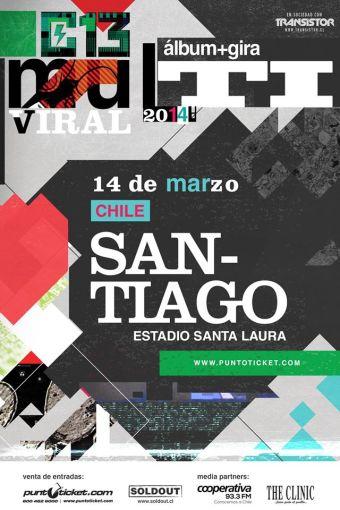 Calle 13 en Chile, Estadio Santa Laura