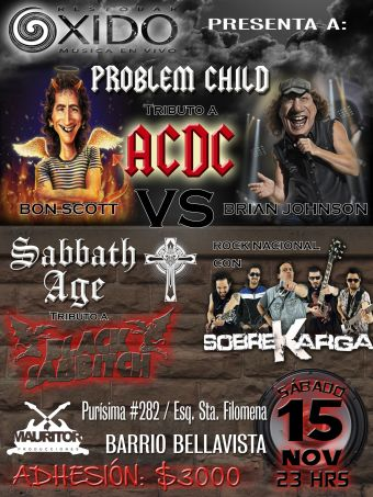 Megatributos a AC/CD y Black Sabbath, Bar Oxido