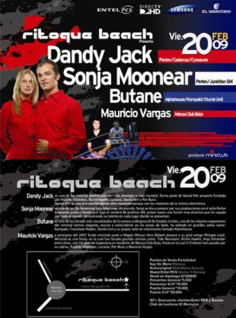 Dandy Jack + Sonja Moonear + Butane + Mauricio Vargas en Ritoque Beach - 20/02/2009