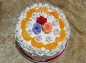 Prepara una torta helada de durazno y lúcuma