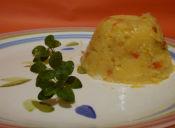 Cómo hacer polenta con pimenton y cebolla