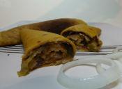 Prepara Panqueques de Zapallo rellenos con puerros y champiñones