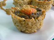 Prepara Tartaletas de Arroz Integral con Espinaca y Pimentón