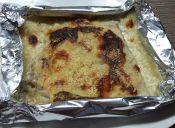 Cocinar filete de pescado al gratín