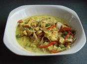 Cómo hacer curry de champiñón ostra y jibia