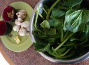 Ensalada de espinaca, champiñones y nueces
