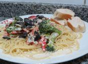 Prepara unos riquísimos espaguettis con vegetales