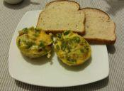 Cómo hacer una Tortilla de vegetales con forma de muffin
