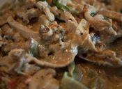 Receta: Fettuccine con salsa de carne y queso
