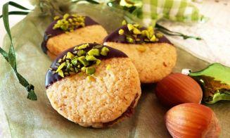 Galletas de té verde y pistachos