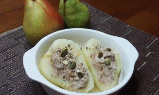 Cocinar peras rellenas con philadelpia
