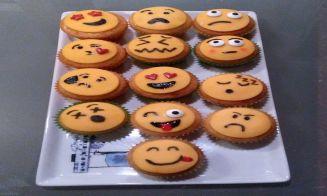 Mini-cupcakes de emojis