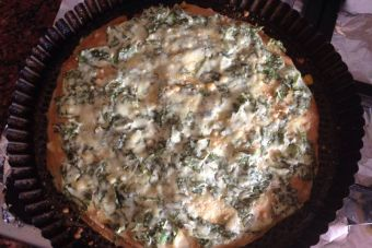 Prepara una lasaña de panqueques con ricotta y espinaca